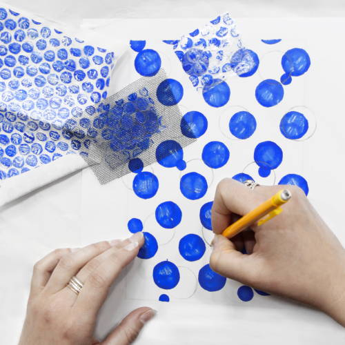 Peinture et Dessin - Bubble painting - Invenio Flory