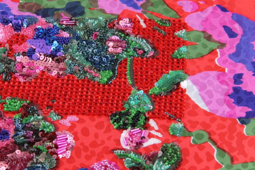 Pop Flowers - Broderie florale créée par Invenio Flory pour Saint Laurent
