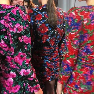 Pop Flowers - Broderie robes florales créée par Invenio Flory pour Saint Laurent