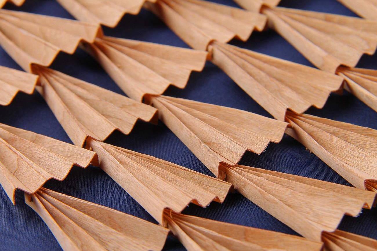 Surface - Texture - Plissé de bois - Invenio Flory